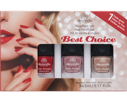 Set lakova za nokte BEST CHOICE 3 X 5 ML